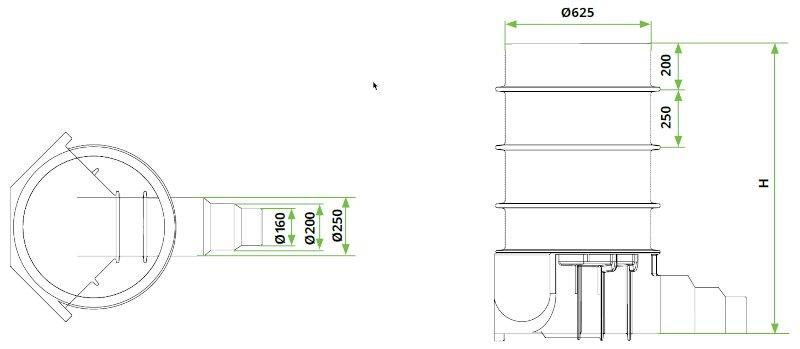 ROTO-Kanalizacijski-jaški-RoShaft-DN600-3-1-dimenzije