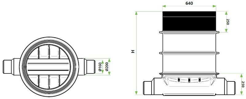 ROTO-Kanalizacijski-jaški-RoShaft-DN600-dimenzije