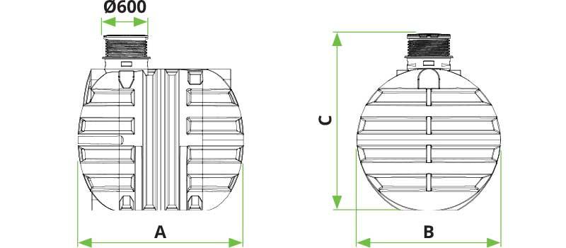 Dimenzije Roto Roterra 2300