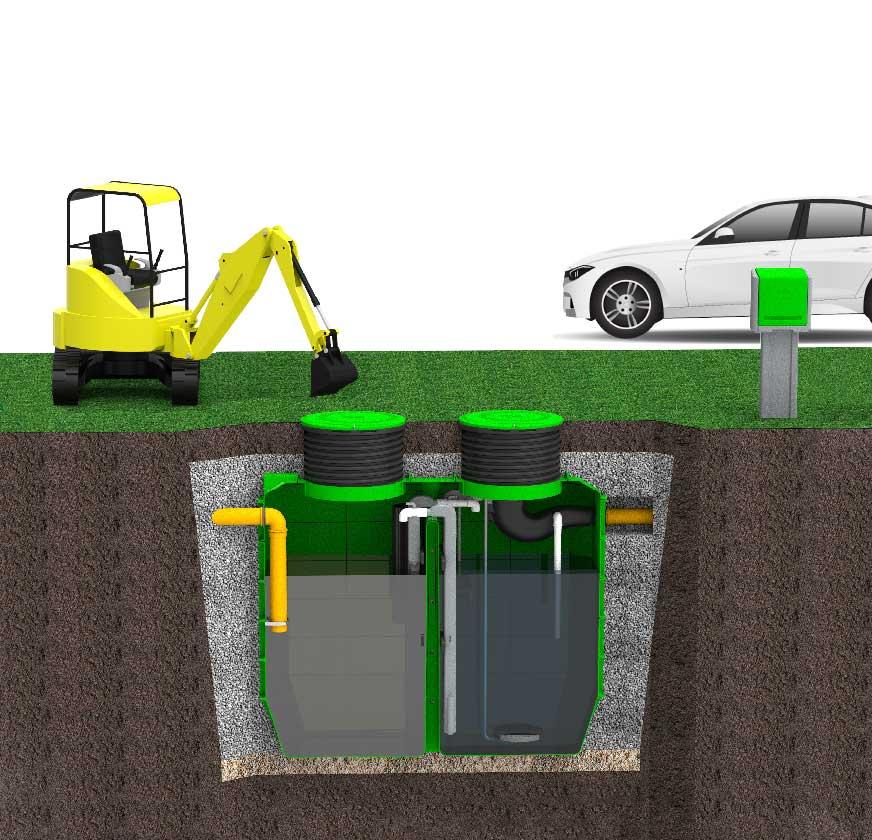 ROTO rotoeco EcoBox render čistilne naprave