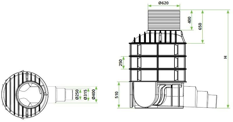 ROTO-Kanalizacijski-jaški-RoShaft-DN1000-3-1-dimenzije