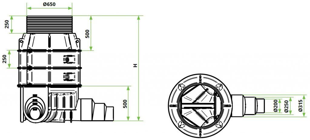 ROTO-Kanalizacijski-jaški-RoShaft-DN800-3-1-dimenzije