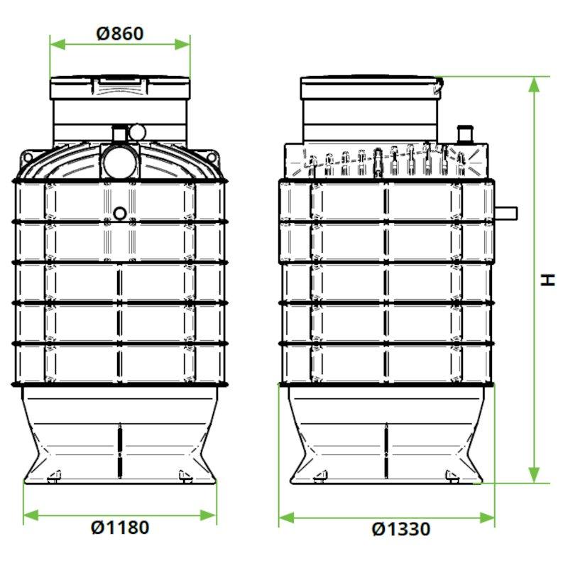 ROTO-crpaliscni-jasek-DN1200-dimenzije