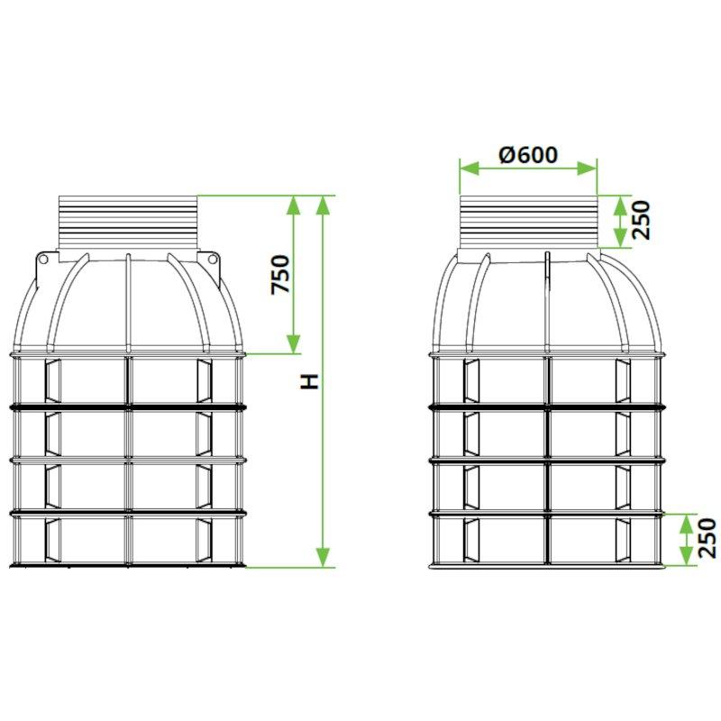 ROTO-peskolv-DN1000-dimenzije