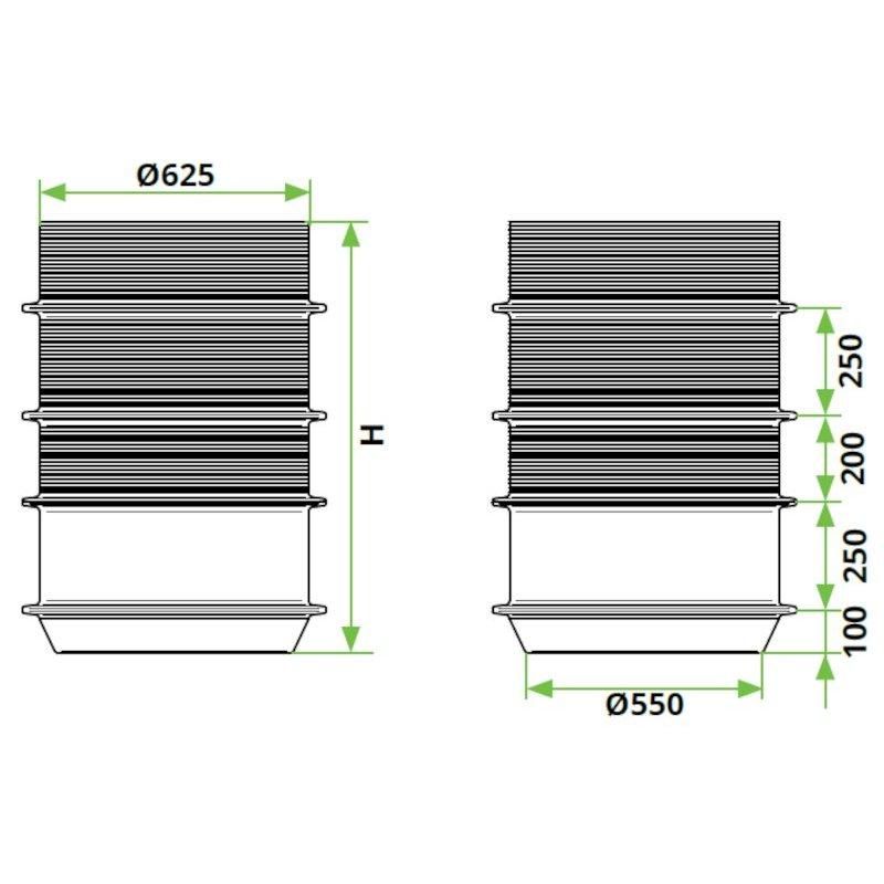 ROTO-peskolv-DN600-dimenzije