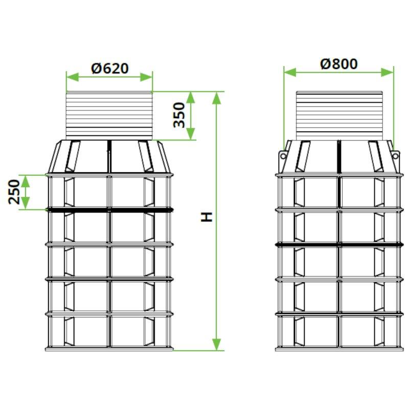 ROTO-peskolv-DN800-dimenzije