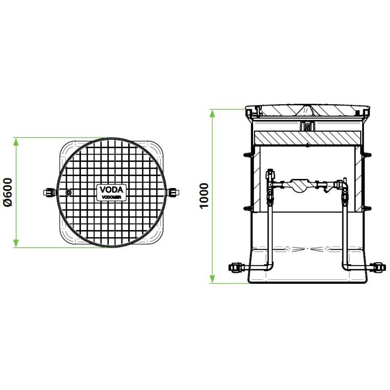 ROTO-vodomerni-jasek-termo-DN600-dimenzije