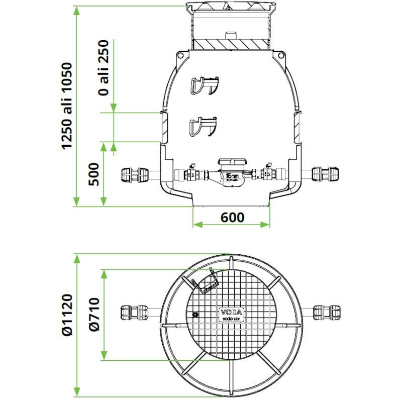 ROTO-vodomerni-jasek-termo-dn1000-dimenzije