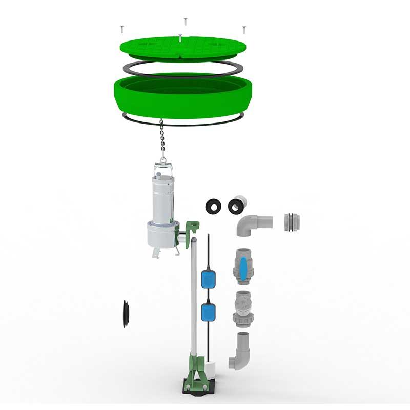 Roto RoPump hišno črpališče komponente