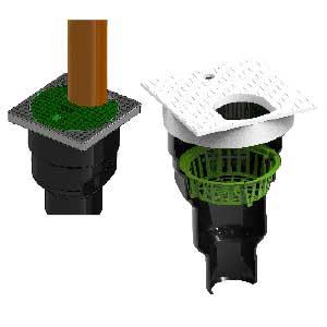 ROTO dodatna oprema rezervoarji za vodo kanaleta za žleb I