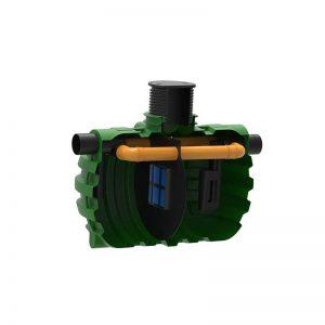 ROTO Rosep lovilci olj z bypassom 10 % NS 100 zbiralnik ekologija voda varovanje okolja